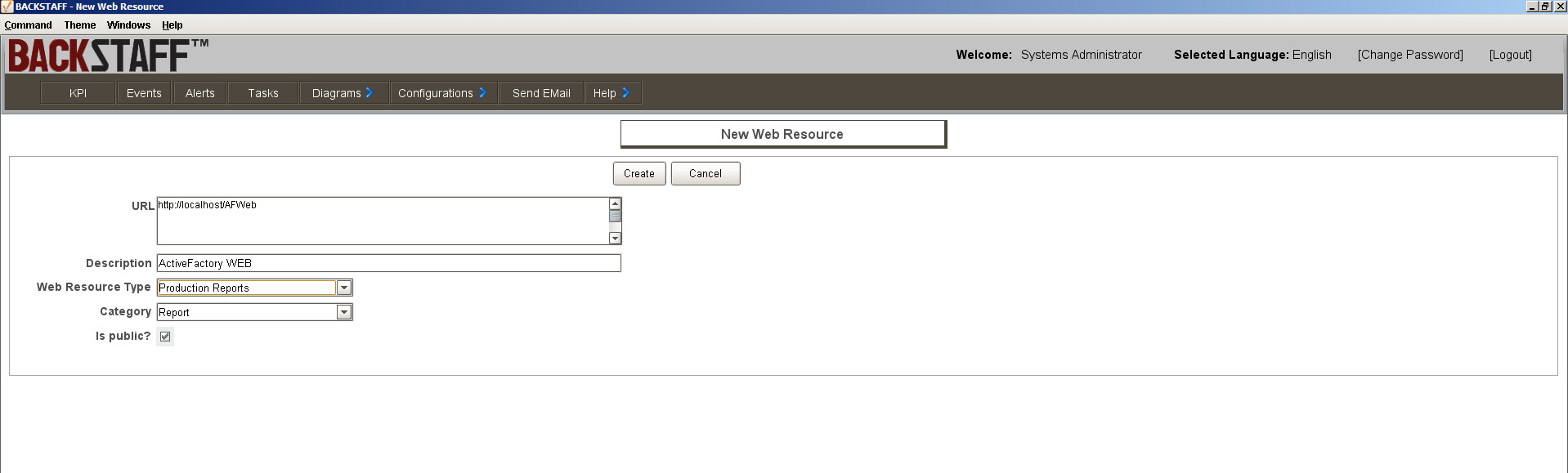 Report configuration from Wonderware Historian